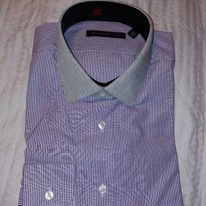 John Varvatos Mens Dress Shirt Sz 15.5 34-35 Plum